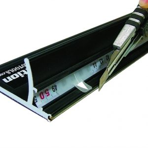 Snijlat Safty Ruler X Black
